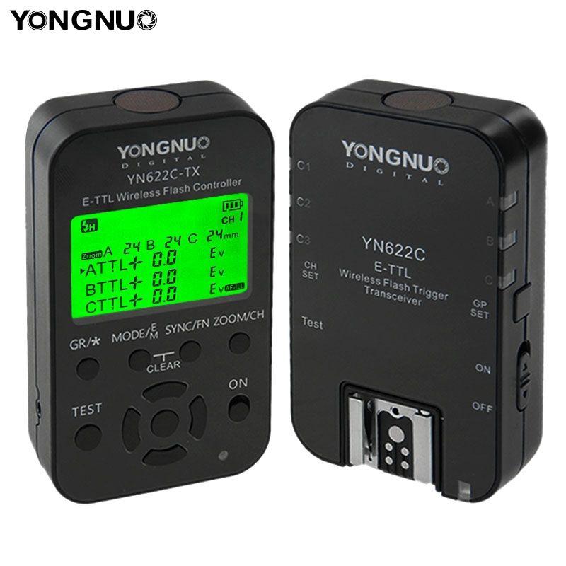 Yongnuo YN-622C-KIT YN 622C ETTL Flash Trigger With Transceivers For Canon Camera Wireless Triggers Flash Studio