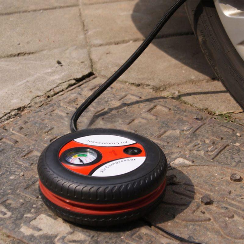 Conception universelle de pneu de compresseur d'air de pompe de gonflage de pneu de voiture de Machine de gonflage de tension d'entrée de 12 V