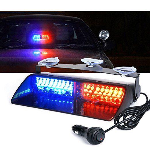 Car 16 LED Red/Blue Amber/White Signal Viper S2 Police Strobe Flash Light Dash Emergency Flashing <font><b>windshield</b></font> Warning Light 12v