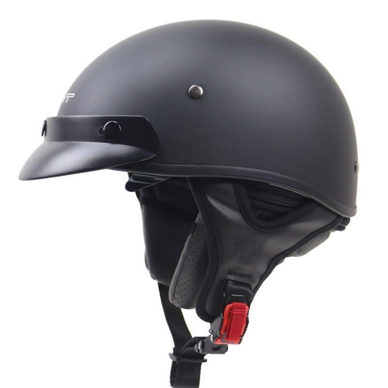 Chopper bike helmet DOT approved half face helmet with control sunglasses Removable and washable liner