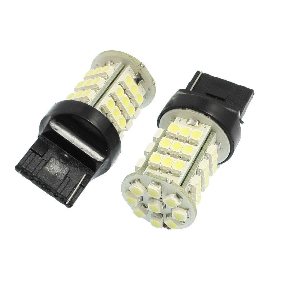 2 Pcs Car White 1210 3528 SMD 45-LED 7440 Backup Reverse Light Lamp Bulb