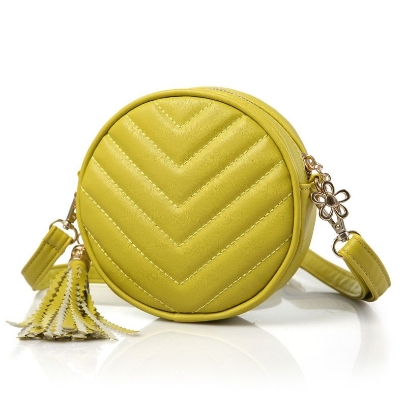 PU leather princess tassel coin change purses wallets crossbody money bags bolsas carteiras feminina for kindergarten baby girls