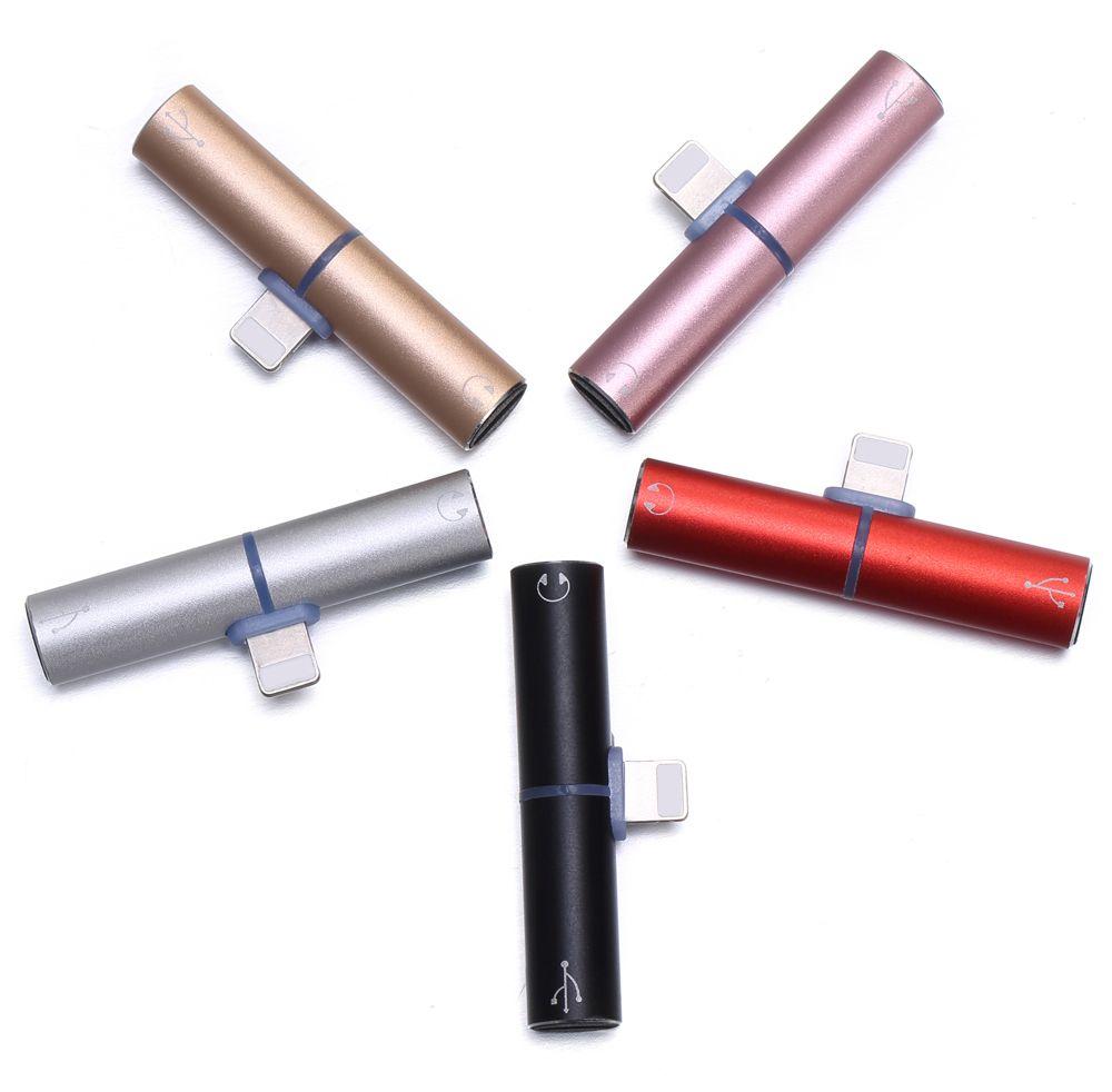 Double 8 broches De Charge Musique Appel Audio Adaptateur Convertisseur à L'original écouteurs Casque Casque Chargeur pour iPhone 7 7 Plus 8 X