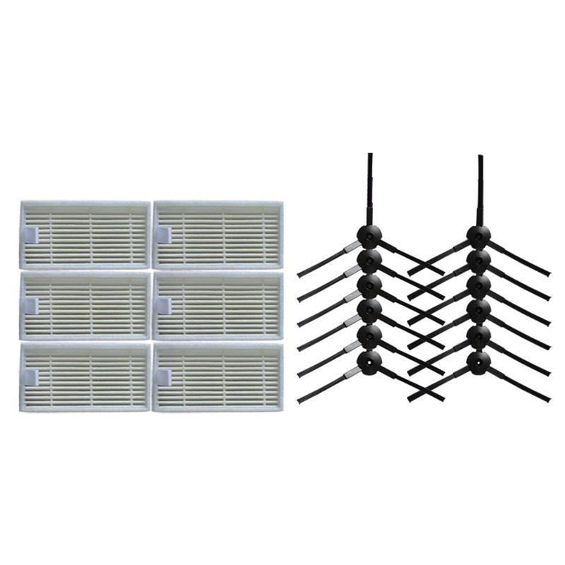 12x côté brosse 6x HEPA Filtre kit pour CHUWI ilife v5s v5 x5 ilife V3s v3s pro v3l v5s pro v50 robot aspirateur pièces