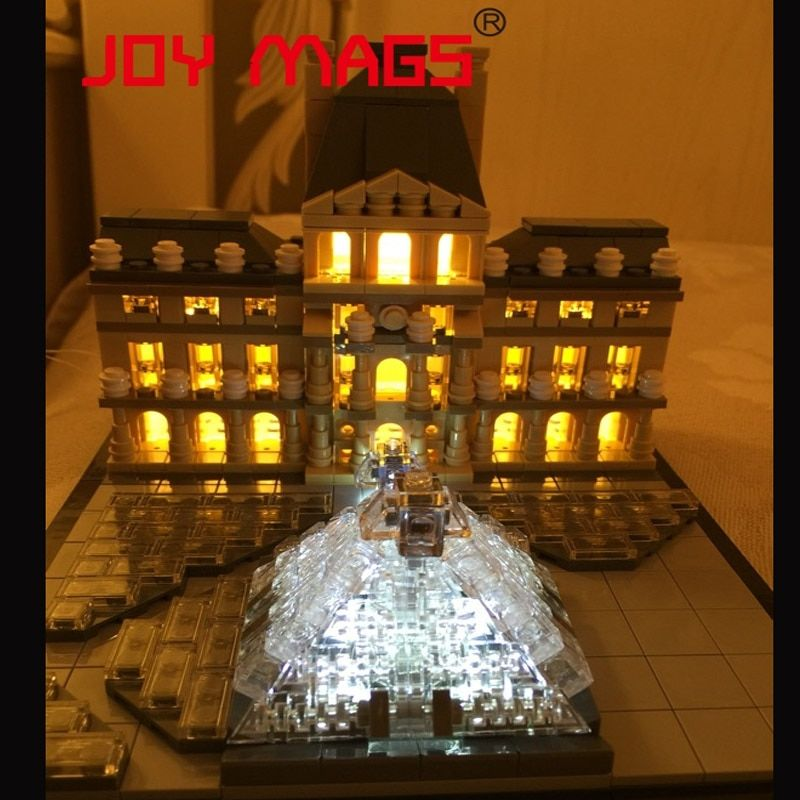 JOY MAGS Light Up Kit Led Building Blocks Kit For Creator Louvre Compatible With Lego 21024 Excluding Building Model