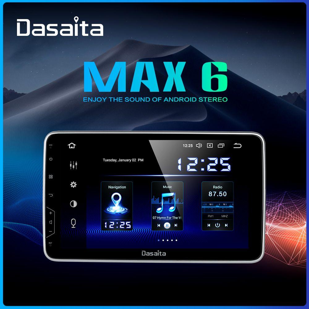 Dasaita 10,2 IPS Bildschirm Auto Radio 2 Din Android 9.0 DSP Universal Auto Auto Stereo Multimedia Bluetooth GPS Navigation HDMI MAX6