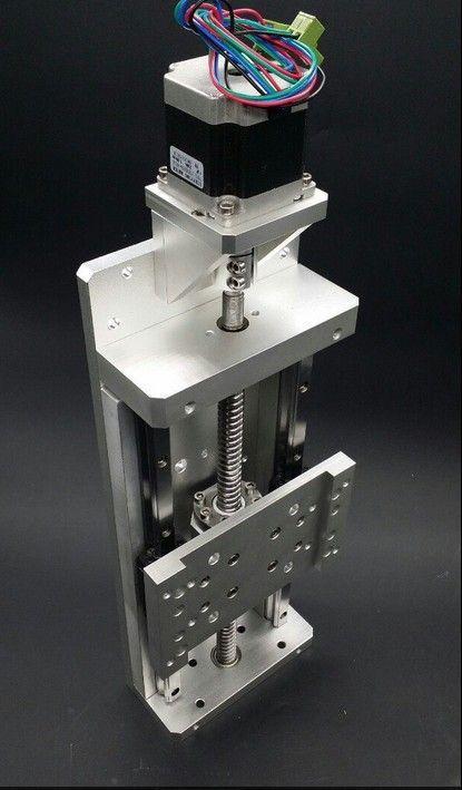Electric slider cnc 1605 linear slider stepper motor nema 23 X 76mm Ball screw guider,travel 100mm for heavy load 100kg z axis