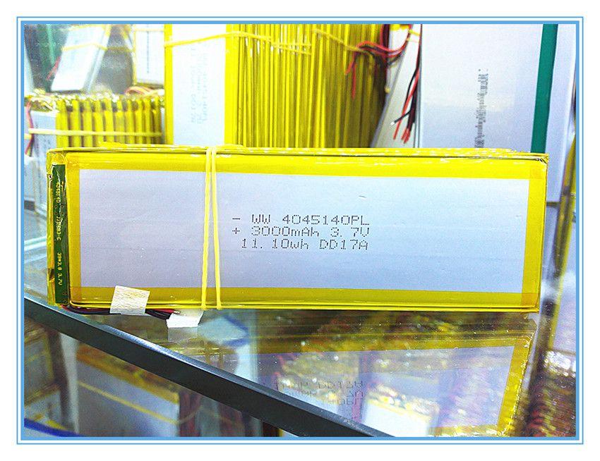 La tablette batterie 4045140 3.7 V lithium polymère batterie tablette mi panneau 3000 mah