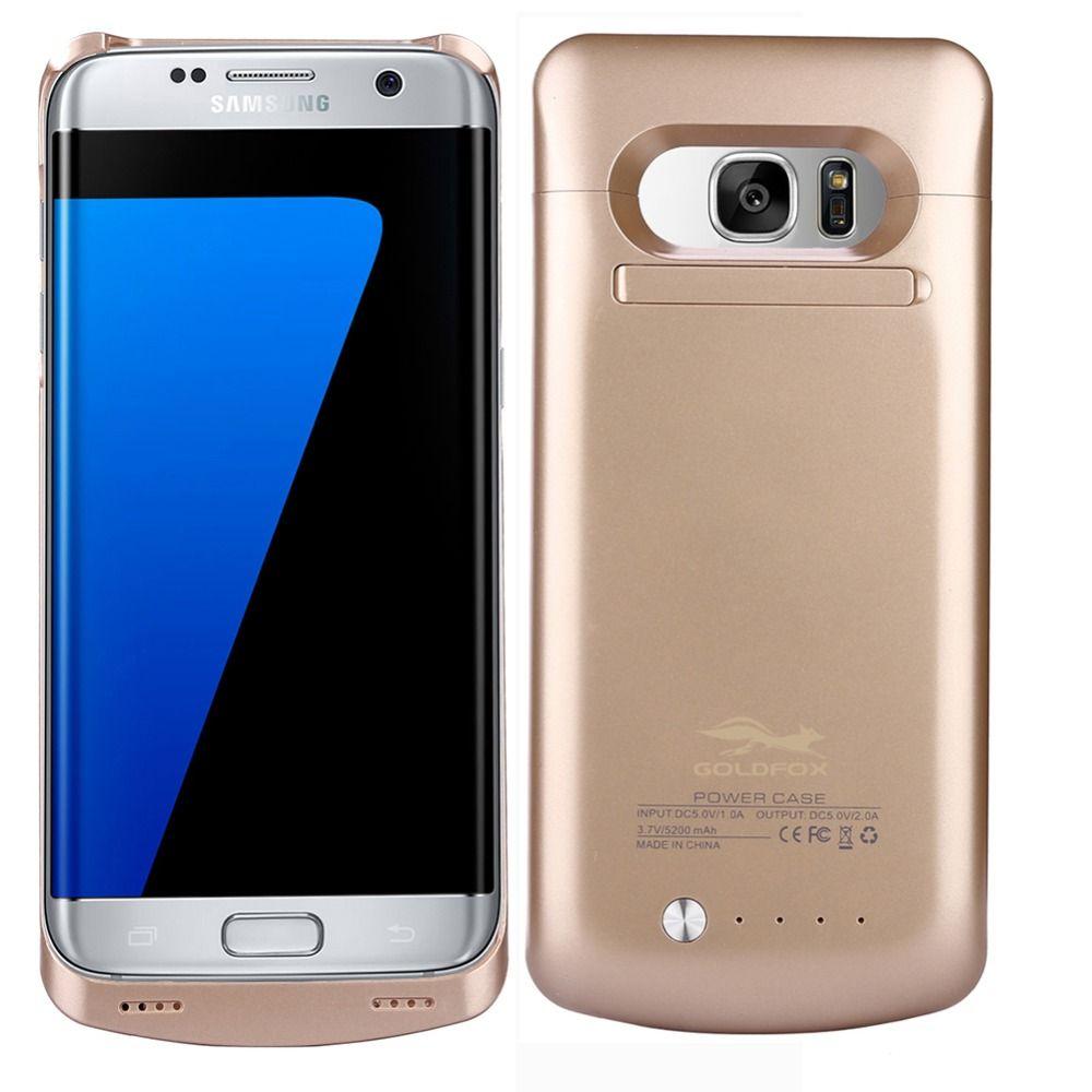 5200 mAh Batterie Cas pour Galaxy S7 Bord Externe Batterie De Sauvegarde Couverture de Cas de chargeur Banque Power Pack pour Samsung Galaxy S7 bord