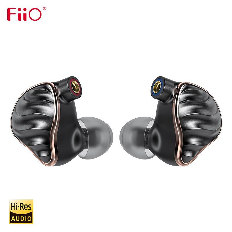 FiiO FH7 HiFi Audio Hallo-Res Beryllium PVD 5 Fahrer (4 Knowles BA + 1DD) hybrid Kopfhörer mit MMCX Abnehmbare Kabel