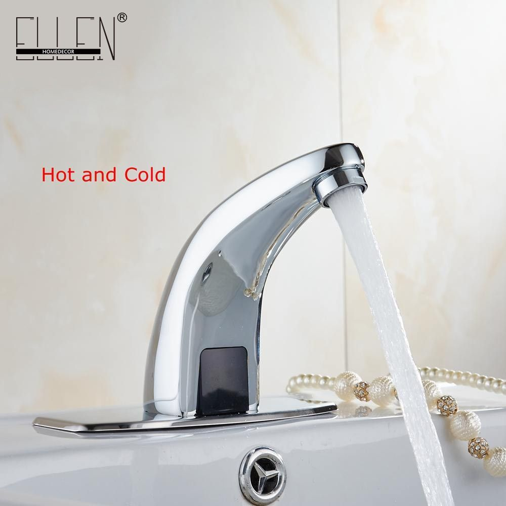 Hot And Cold Automatic Hands Touch Free Sensor Faucet Bathroom Sink Tap Bathroom faucet