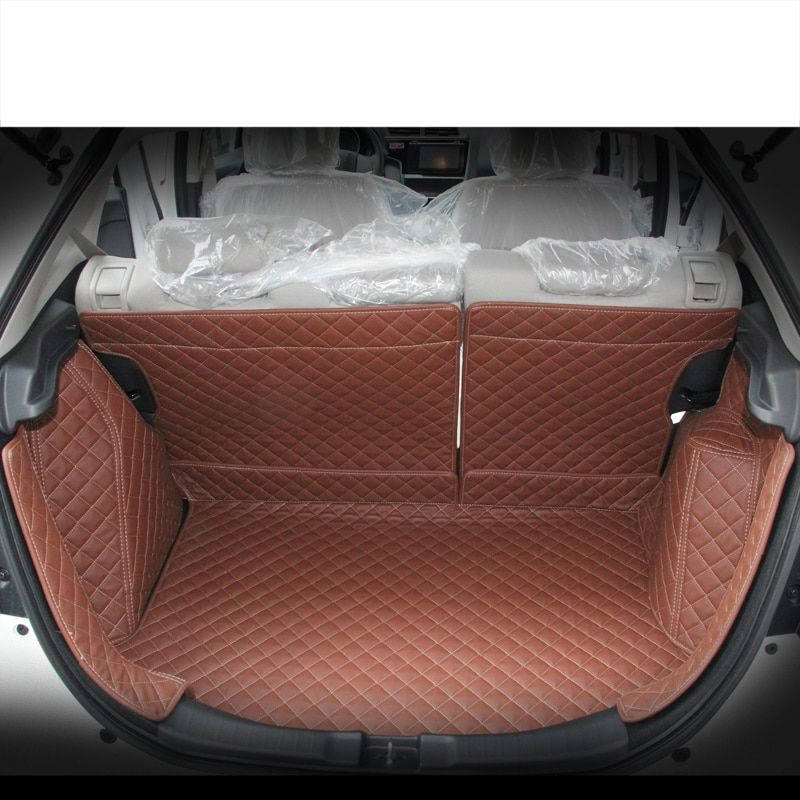 lsrtw2017 custom fit fiber leather car trunk mat cargo mat for honda fit gk5 2014 2015 2016 2017 2018 2019 5d cargo liner