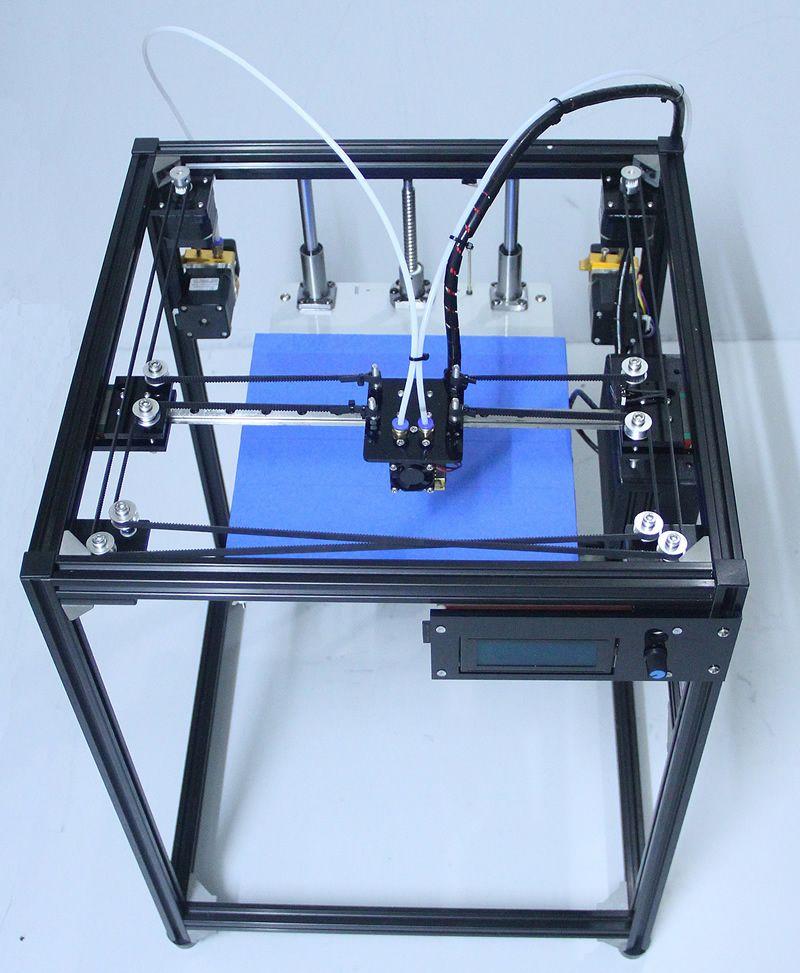 3d imprimante kit double tête d'extrusion buse en aluminium corexy diy imprimante 3d double extrudeuse avec 50g PLA double extrudeuse 3d imprimante