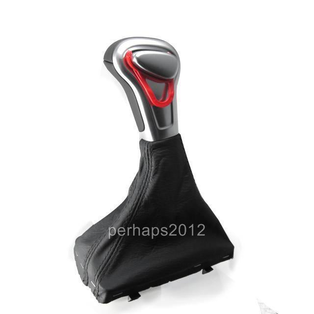 Chrome Leather Shift Knob for Audi A4 A6 A7 Q7 Q5 2009 2010 2011 2012 2014