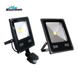 Ultrafino 10 W 20 W 30 W 50 W llevó la luz de inundación con sensor de movimiento PIR detector proyector impermeable al aire libre IP65 reflector