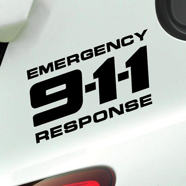 Autocollant de voiture décalcomanie 911 vinyle réfléchissant 2 couleurs 25x12.5 cm Tuning Auto moto accessoires de style de voiture