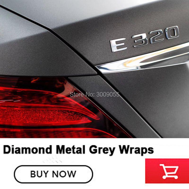 Hochwertige serie Klassische Diamant Metall Grau Matte Grau Vinyl mit Air Release metallic holzkohle grau Wrap Folie