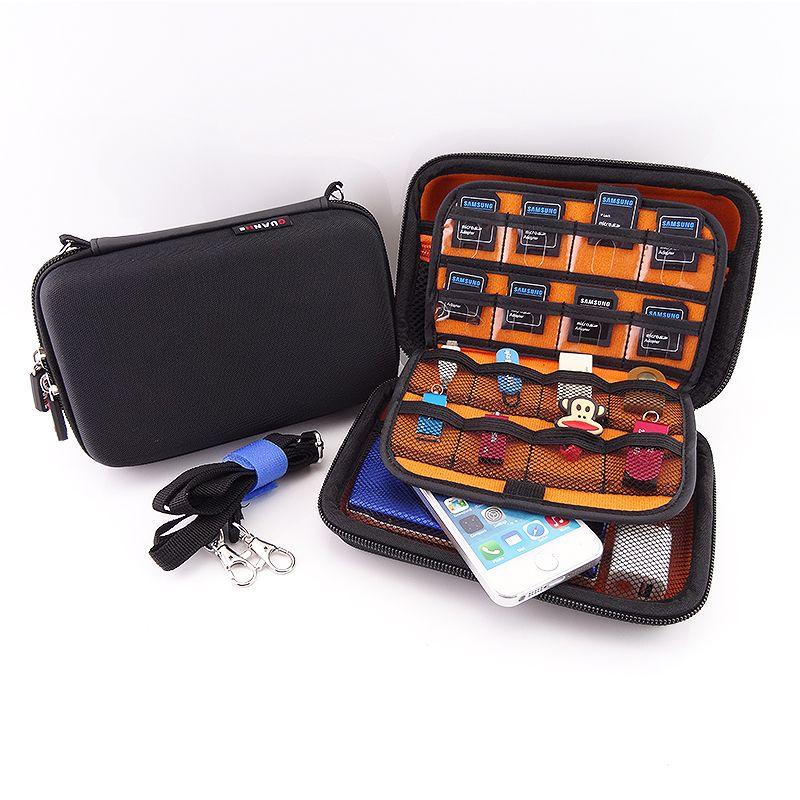 2.5 pouce disque dur externe cas avec fermeture éclair en nylon durable dur sacoche housse sac carry case 2.5 disque dur puissance banque