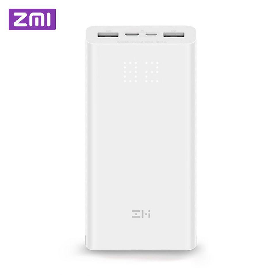 Xiaomi ZMI Power Bank 20000mAh external battery portable charging Power Digital Display QC3.0 Dual USB QB821 20000 mAh Powerbank