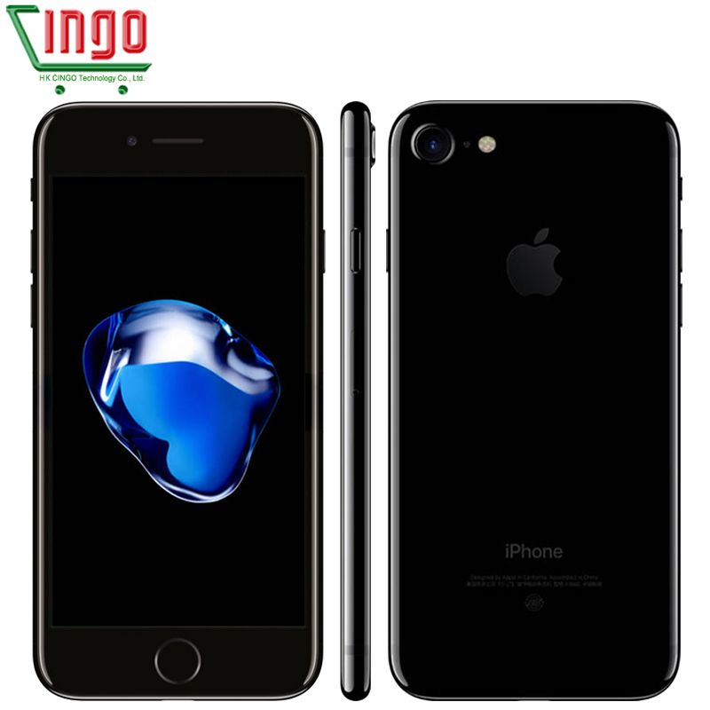 unlocked Apple iPhone 7 2GB RAM 32/128/256GB ROM 4.7 IOS <font><b>Cell</b></font> Phone 12.0MP Camera Quad Core 4K Video LTE 1960mAh