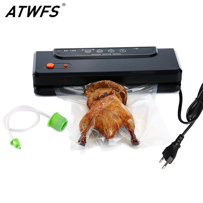 ATWFS Household Multi-function Best Food Vacuum Sealer Saver Home Automatic Vacuum Sealing Packer Plastic Packing Machine Bags