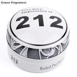 Grasse fragancias atractivo notas de madera Parfum perfume sólido hombres protable perfumes y fragancias sólidas Cuerpo fragante perfume para hombres