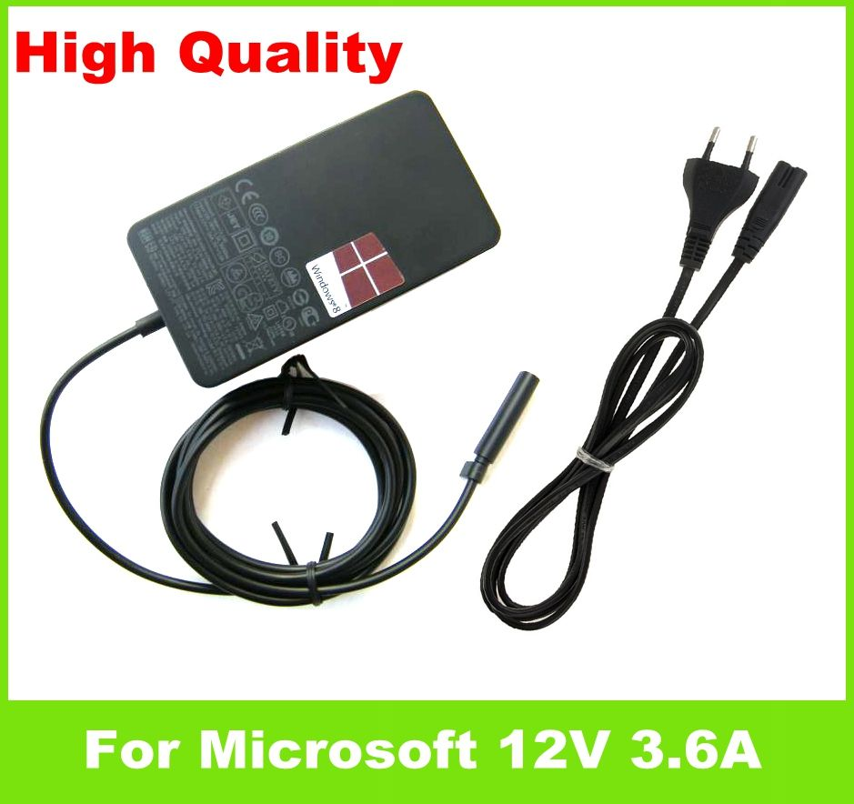 12V 3.6A 45W ac Adapter For Microsoft Surface RT Pro 1 2 10.6