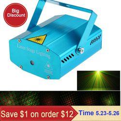 Мини светодиодный лазерный проектор рождественские украшения Лазерное освещение для дискотеки лазерный свет Dj Голосовая активация DJ диск...