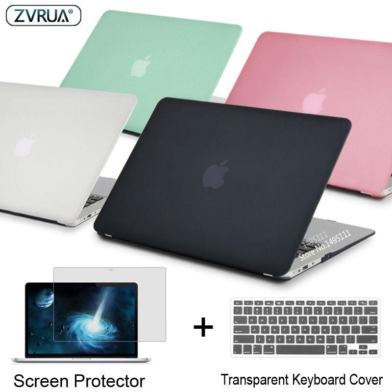 ZVRUA Mallette Pour Ordinateur Portable Pour Apple MacBook Air Pro Retina 11 12 13 15 pour mac livre Nouveau Pro 13.3 15 pouces avec Tactile Bar + Couvercle Du Clavier