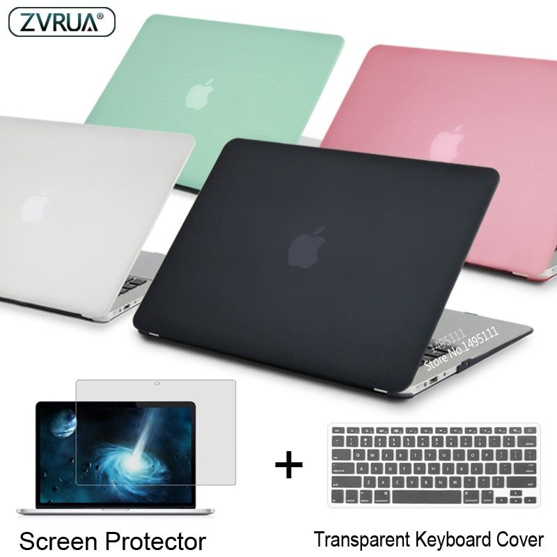 ZVRUA Laptop Case For Apple MacBook Air Pro Retina 11 12 13 15 for mac book New Pro 13 15 inch with Touch Bar+ Keyboard Cover