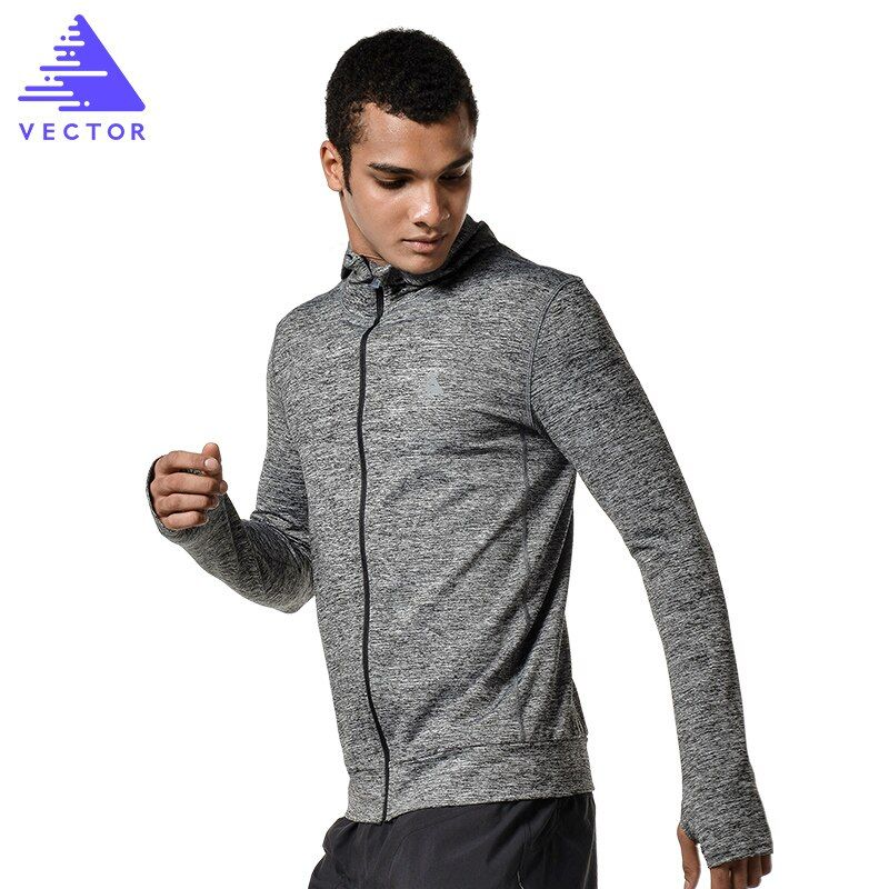 VECTOR  Breathable Running Jacket Men Quick-drying Running Jersey Windproof Coat Outdoor Sports Hiking Runing Top XXF30004