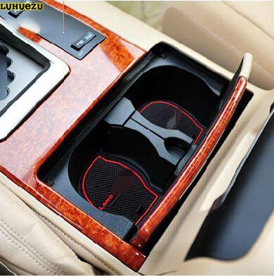Luhuezu 15 pièces tapis de porte intérieur antidérapant en caoutchouc pour Toyota Land Cruiser V8 LC 200 2008-2018 accessoires