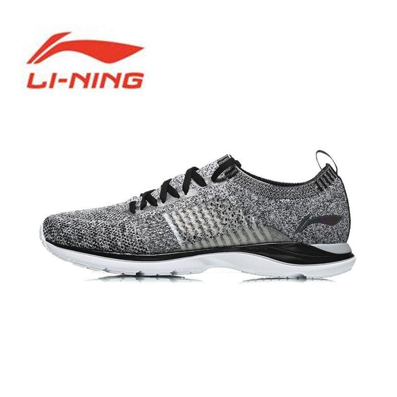 Li-Ning Men Super Light XV Running Shoes Light Weight Breathable Sneakers Mono Yarn Li Ning Sports Shoes ARBN009 Y