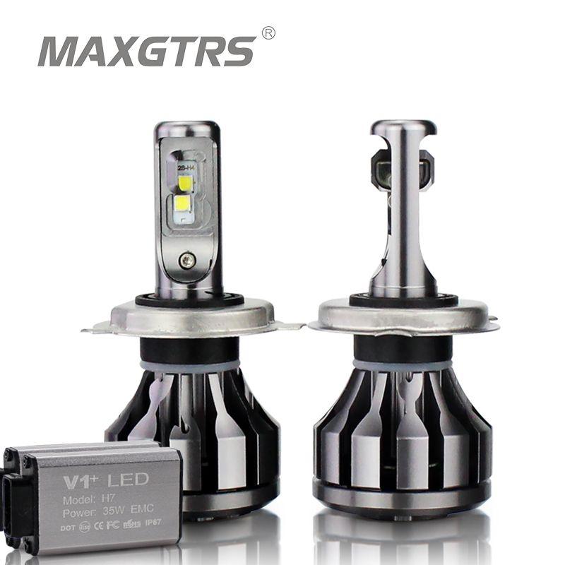 MAXGTRS Car LED Headlight Canbus H1 H3 H7 H4 LED H8/H11 HB3/9005 HB4/9006 9012 880 881 CSP Chip 70W Auto Bulb Headlamp Light