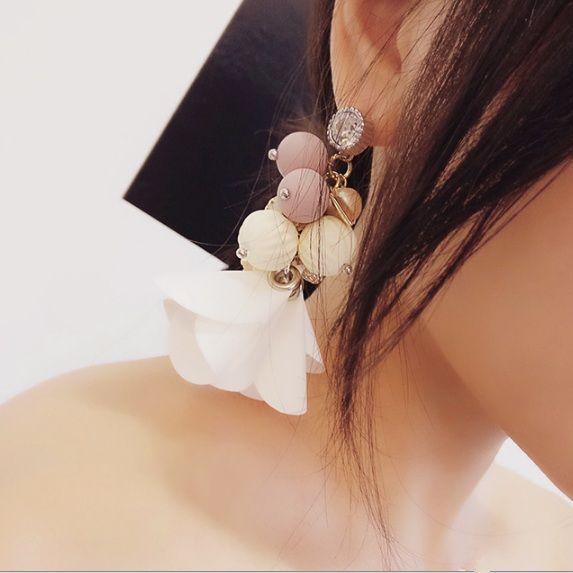 2016 Mode Coréenne Exagérer Boucles D'oreilles Pur À La Main Brillant Rhinestonea Coloré Perles Multi-éléments Long Goutte Tassel Brincos