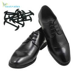 Gootrades 12 pcs/ensemble 3 Tailles Hommes Femmes Chaussures En Cuir Paresseux Aucune Cravate Lacets Élastique Silicone Lacet De Chaussure Adapté Livraison Gratuite