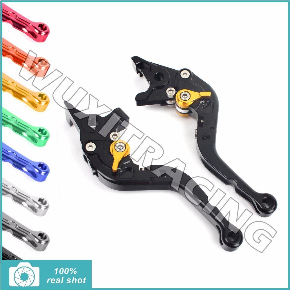 Billet Short Folding Brake Clutch Levers for MOTO GUZZI Griso 850 1100 8V 1200 06-15 Norge 850 L 08-13 1200 Sport Stelvio 07-15
