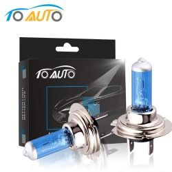 2pcs H7 55W 12V Halogen Bulb Car Headlight Lamp 5000K White Quartz Glass Car Daytime Running Lights DRL Auto Headlamp