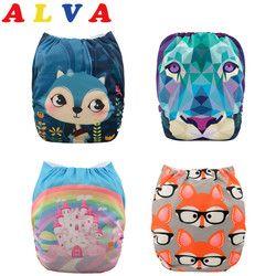 U Pick ALVA Baby 2019 Most Popular Digital Position Baby Cloth Diaper with Microfiber Insert (YD Series)