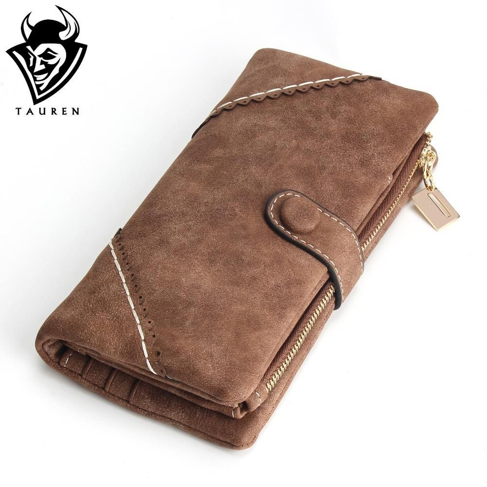 2018 New Women Wallets Coin Case Purse For Phone Card Wallet Leather Purse Ms Frosted Long Purse Vintage Buckles Lace Wallet