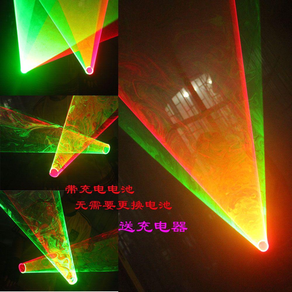 Livraison Gratuite LED Laser Gants vert/rouge couleur remous laser homme gants remous laser show gants avec 2 Rotation Vortex Laser