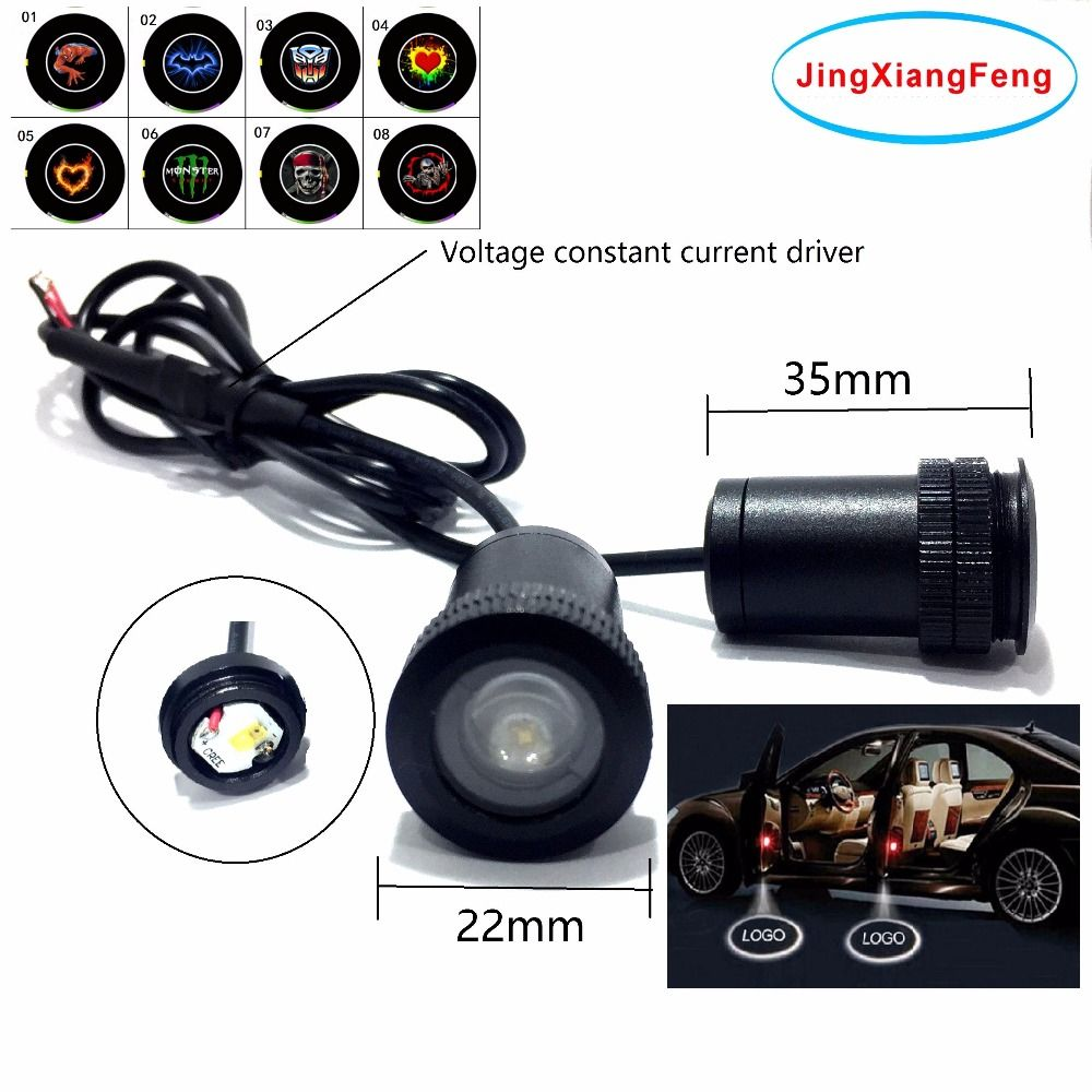 JingXiangFeng 12V LED Car Door Logo Light Car Welcome Lamp Auto Laser Projector Light Case For Mazda Case For Opel Case For Bmw