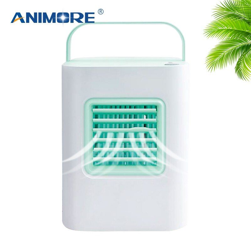 ANIMORE Portable USB Air Cooler Indoor Humidifying Cooler Fan Small Air Conditioner Fan Personal Mini Air-cooler 4 Colors FAN-12