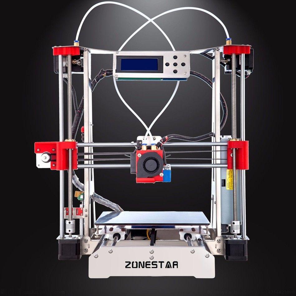 En option Double Extrudeuse Full Metal Reprap i3 3D Imprimante BRICOLAGE Kit Auto Nivellement Facile Assembler Livraison SD Carte D'alimentation Gratuite