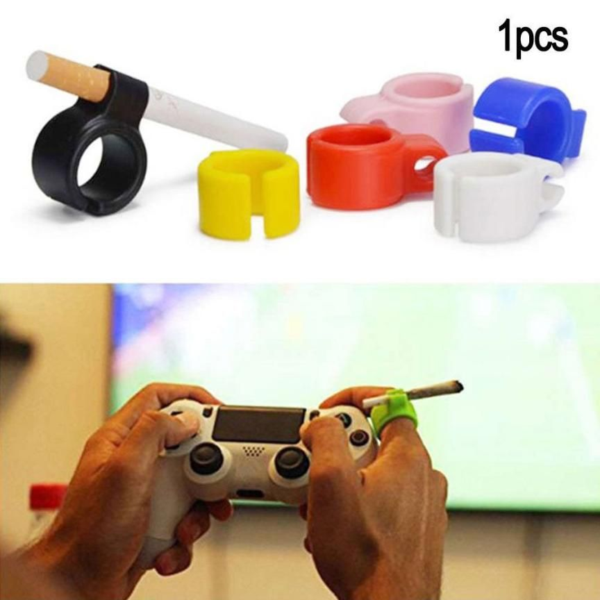 1PC Silicone Ring Finger Hand Rack Cigarette Holder For Regular Smoking Smoker Mini Multicolor Boyfriend Gift Wholesale Discount