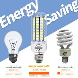 CanLing E14 Corn Bulb E27 Led Lamp GU10 LED 3W 220V Lampada Candle Bulb 5730 24 36 48 56 69 72leds Bombillas Indoor Lights Bulb