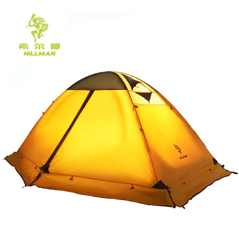Hillman journey 2P outdoor camping tent double layer aluminum pole windproof waterproof equipment high quality with snow skirt