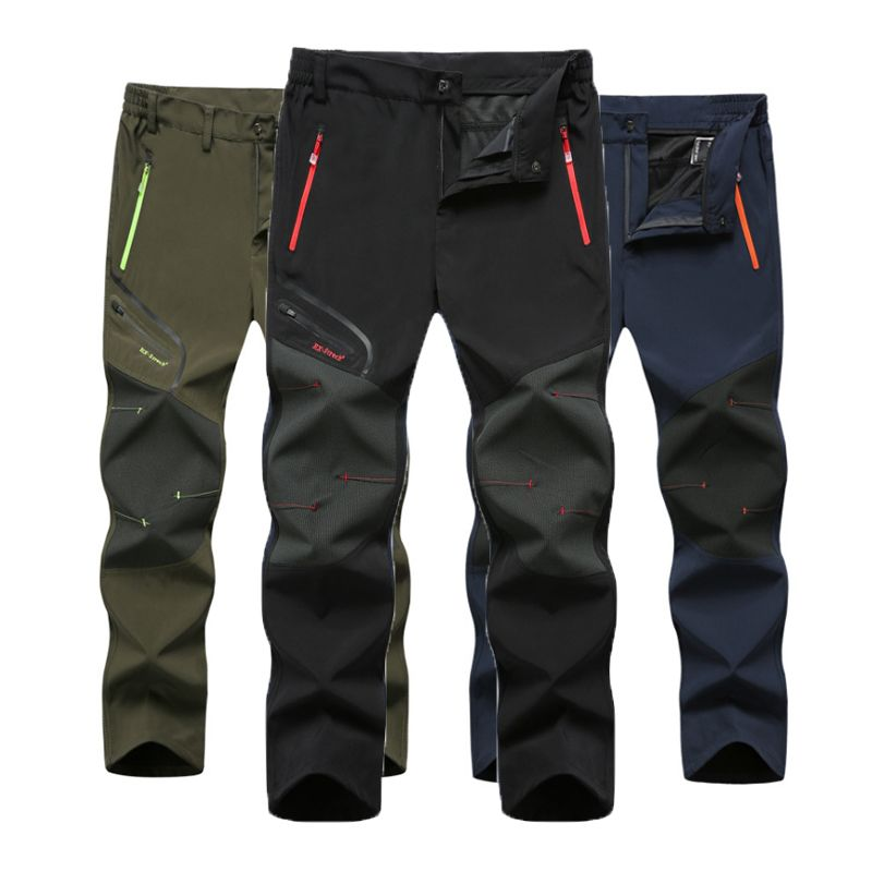 Men 2018 New Summer Hot Season Hiking Trekking Fishing Camping Climb Run Trousers Plus Size Oversized Waterproof Outdoor Pants