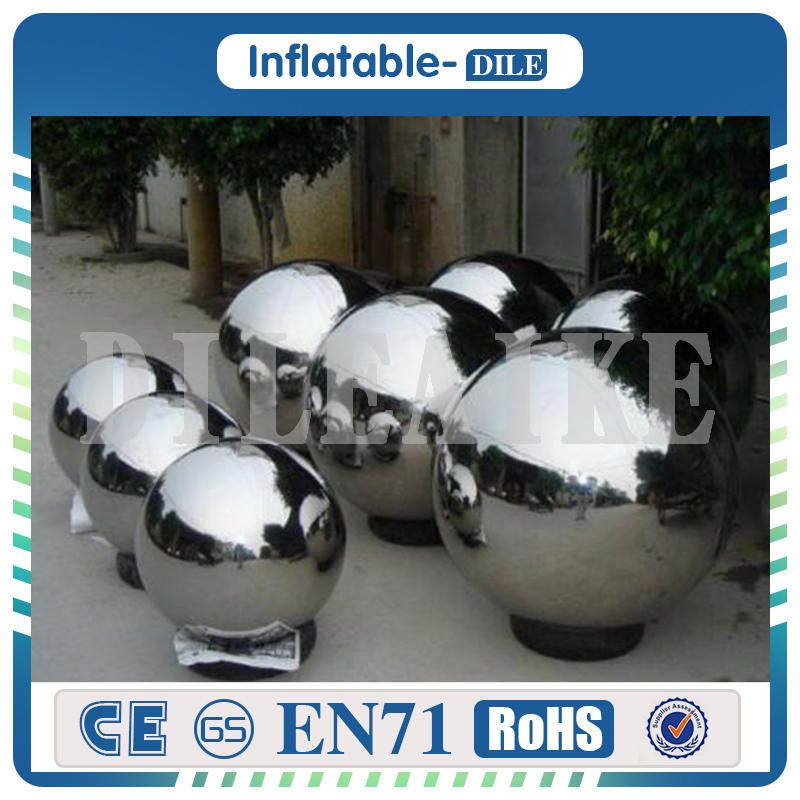 Free Shipping 4 pieces To Door PVC Inflatable Ball Inflatable Mirror Ball 3m Dia Inflatable Balloon For Sale