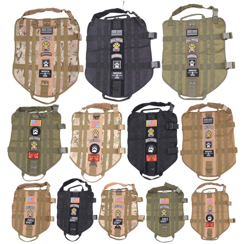 Polizei K9 Tactical Military 1000D Nylon Molle System Hundetraining Hundegeschirr Jagd Weste Kleidung Trag Harness M-XL